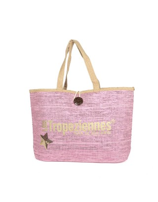 LES TROPEZIENNES SAC SHOPPING PAN11 ROSE