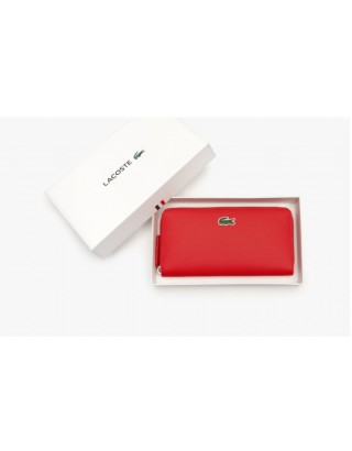 LACOSTE PORTEFEUILLE ZIPPE NF 2900/883 ROUGE