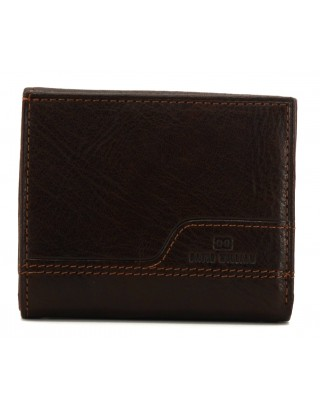 DAVID WILLIAM PORTE MONNAIE EN CUIR MARRON D5373
